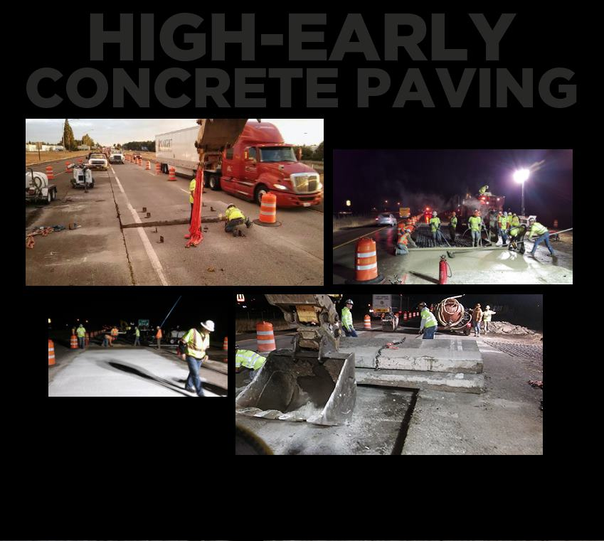 hp civil High-Early Concrete Paving